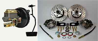 1967 Ford Mustang Front Disc Brake Conversion Kit Drilled And Slotted