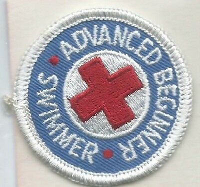 Red Cross advanced beginner swimmer patch 2 dia