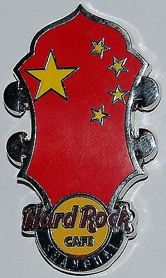 Hard Rock Cafe SHANGHAI 2016 Core Headstock Flag Series Pin (#92379)