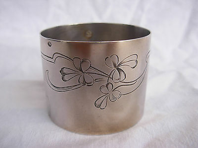 Antique French Sterling Silver Napking Ring,art Nouveau.
