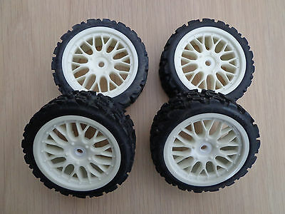 kyosho alpha/ Thunder tiger 1/10 Wheels and Tyres 12mm hex 's