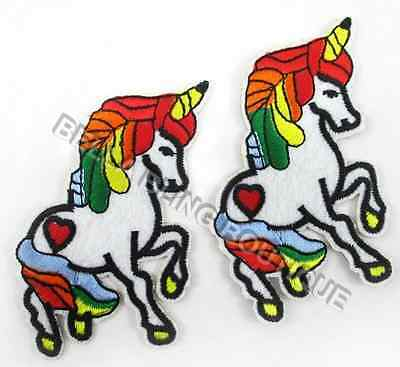 1 Embroidered Unicorn Iron On Sew On Patch Clothes Craft Applique