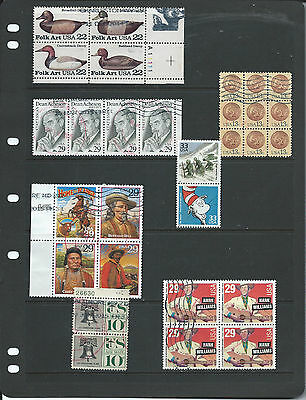 U.S.A. Selection of Multiple Units Commemoratives/Definitive..Used.(B)