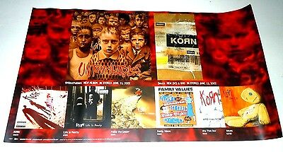KORN~Untouchables~Original Promo Poster~Double Sided~12x20~2002