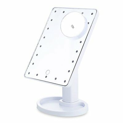 22 LED Light Illuminated Touch Screen Make Up Cosmetic Tabletop Vanity Mirror W