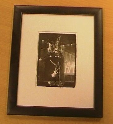 Kiss,  Paul Stanley, Mounted And Framed Photograph.