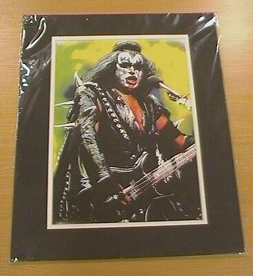 Kiss,  Gene Simmons Mounted Art Picture,  Large Size..