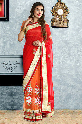 Designer Indian Women Party Wear Bollywood Sari Pakistani Wedding Saree 1089
