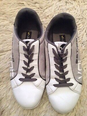 Voi Jeans Grey And White Trainers Size 10