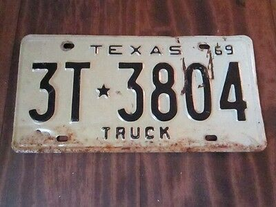 1969 Texas Truck License Plate~G