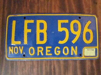 1970 Oregon License Plate~VG
