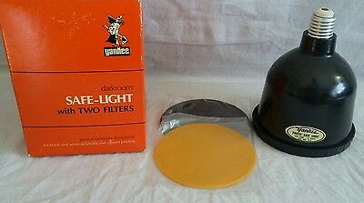 Vintage Yankee Safe-Lite with TWO Filters Darkroom Film Photography Light