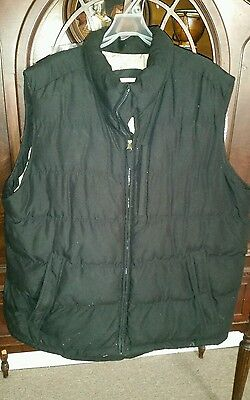 Mens WEATHERPROOF VEST XXL BLACK