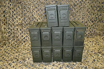(12 PACK ) 7.62 / 30 Cal M19A1 AMMO CAN VERY GOOD CONDITION  ** FREE SHIPPING**