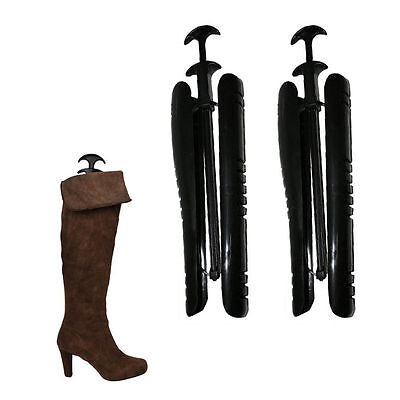 1 Pairs Lady Women Automatic Boot Trees / Shapers With Handle 12.5 inch UK
