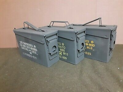 ( 3 PACK) 7.62 / 30 Cal M19A1 AMMO CAN VERY GOOD CONDITION ** FREE SHIPPING**