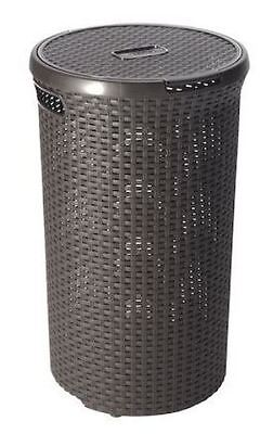Brand New Style Hamper 48L Laundry Bin - Brown