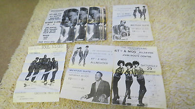 collection old northern soul & mod music all nighter posters mayfair newcastle