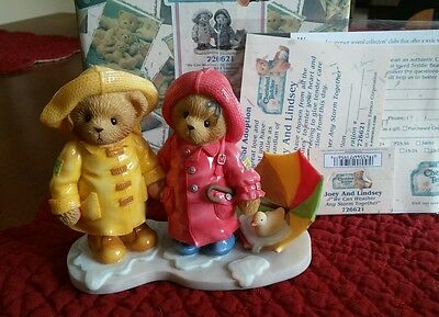NEW in BOX Cherished Teddies We Can Weather Any Storm Together Joey and Lindsey