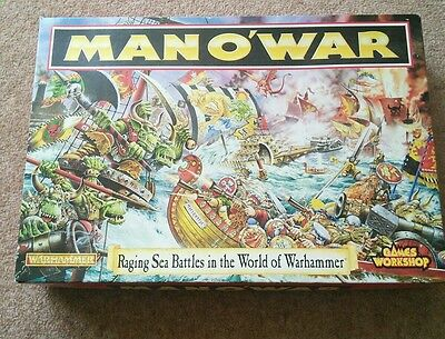 Warhammer Man O' War. Boxed in great comdition.
