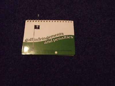 Golf infringements and penalties, spiral bound reference book (small)