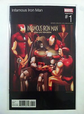 INFAMOUS IRON MAN #1 ANTHONY PIPER HIP-HOP VARIANT COVER Dr DOOM NM 1ST PRINTING