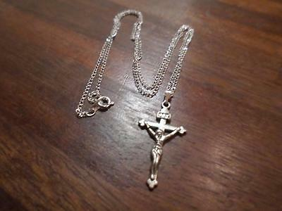 Wonderful Tibetan Silver Crucifix Cross Pendant On Necklace. Christian Jewellery