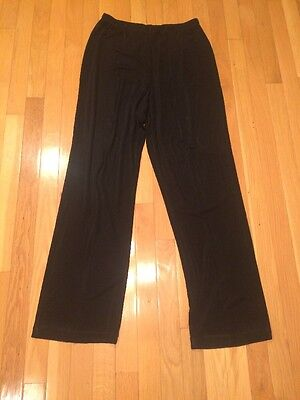 Chico's Travelers Women's Black Pants Size 2 Large L Pull On Pant Slinky Stretch
