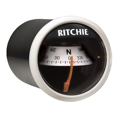 Ritchie X-21WW Compass Dash Mount White/Black X-21WW