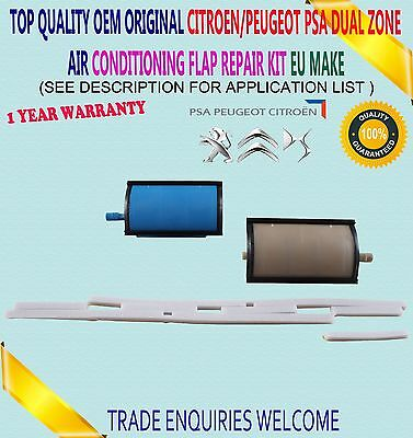 Dual Zone Air Conditioning Flap Repair Kit For Citroen C5 Peugeot 407 6480E3