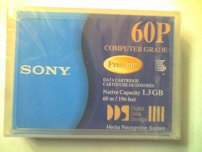 SONY DG60P 1.3Gb 60m DDS-2 & DDS-3 DATA CARTRIDGE TAPE - NEW / SEALED - B