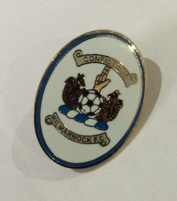KILMARNOCK Badge Football Club FC Enamel Supporters KILLIE OVAL Pin