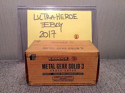 Metal Gear Solid 3 Snake Camouflage Limited 2005 Pcs! Kubrick Medicom Sealed Box