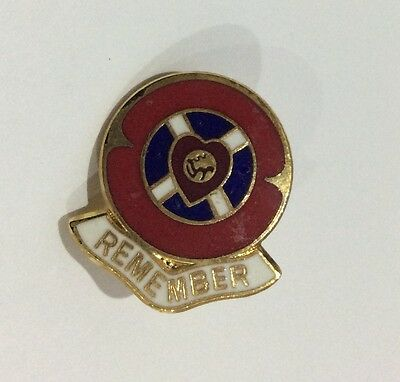 Old HEARTS Badge Football Club FC Enamel Supporter Pin RARE?