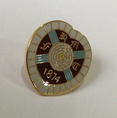HEARTS Badge Football Club FC Enamel Supporters HMFC 1874 Pin