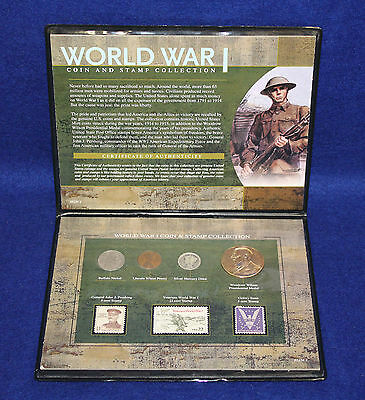 World War I Coin & Stamp Collection 0525C2 with COA