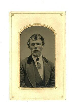 Tintype, Vintage Photo,Handsome Mature dude