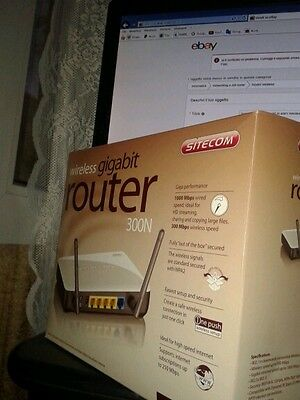 Router WI-FI Sitecom WLR-4001 Wireless Gigabit Router 300N