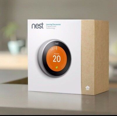 NEST Learning Thermostat 3rd Generation Incl. Hot Water Control - RRP £199