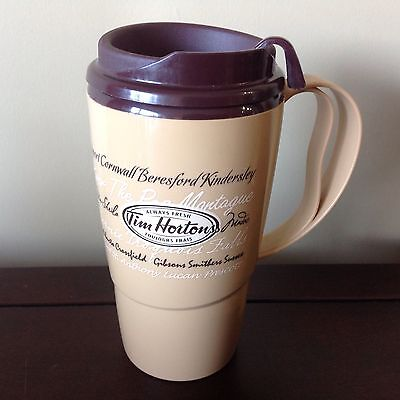 Tim Hortons Coffee Insulated ThermoServe Travel Mug 16oz Handle Tea Cup