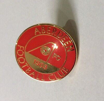 ABERDEEN Badge Football Club FC Enamel Supporters SMALL Enamel SCOTTISH Pin