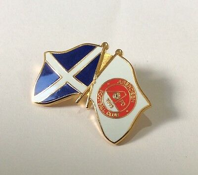 ABERDEEN Badge Football Club FC Supporters Pin. SCOTLAND FLAG SUPPORTERS ENAMEL