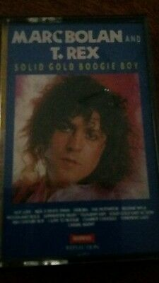 Marc bolan and t rex casette tape solid gold boogie boy