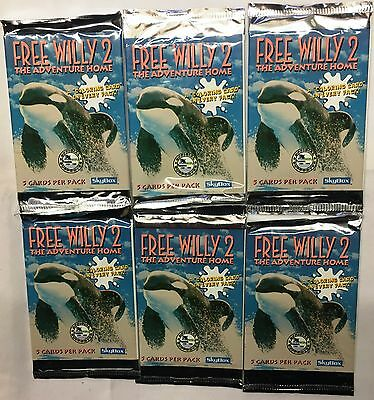 60 Packs x NEW Free Willy 2 The Adventure Home Trading Cards Skybox Unopened