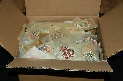 Box Of Glassines With World Wide Stamps All Eras Mint & Used 2-3,000 Stamps