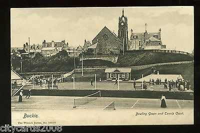 BUCKIE /  BOWLS / TENNIS -   Bowling Green and Tennis Courts with players