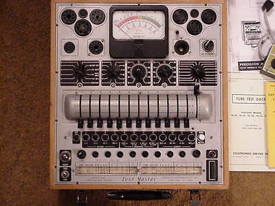 Precision 10-20 Tube Tester, Good, Works, with Coletronics adapter