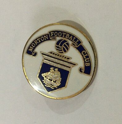 MORTON Football Club Badge FC Enamel Supporters Pin SCOTLAND SCOTTISH