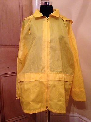 Vintage Yellow Rain Coat Jacket M/