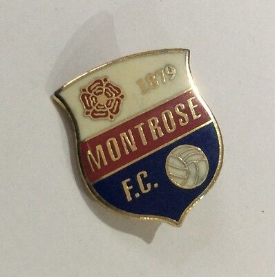 MONTROSE Football Club Badge FC Enamel Supporters Pin Scotland Scottish